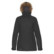 Dakine Lowell w/Faux Fur Womens Insulated Ski Jacket, Black, medium