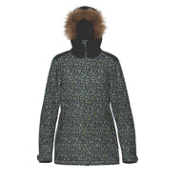 Dakine Lowell with Faux Fur Trim Womens Insulated Ski Jacket, Ripley, medium