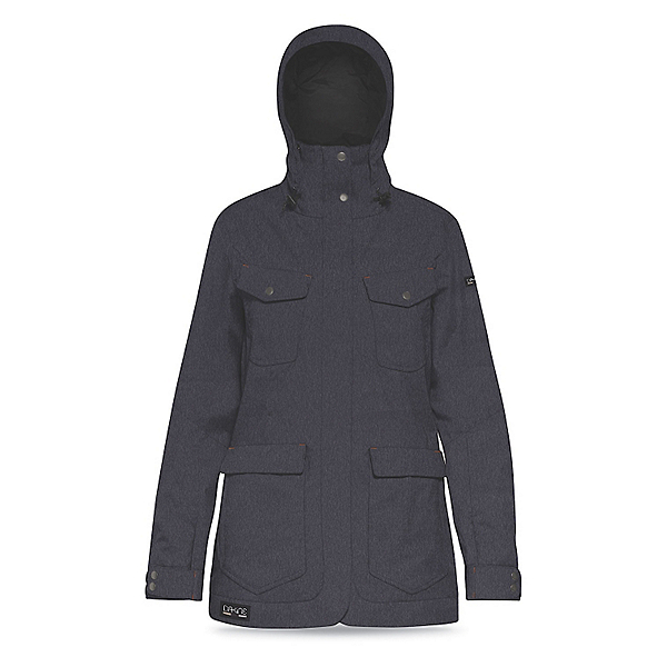 Dakine Canyons Womens Shell Ski Jacket, Denim, 600