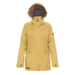 Dakine Brentwood with Detachable Faux Fur Hood Brim Womens Insulated Ski Jacket, Curry, 256