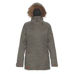 Dakine Brentwood with Detachable Faux Fur Hood Brim Womens Insulated Ski Jacket, Jungle, 256