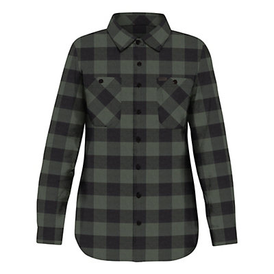 Dakine Canterbury Womens Flannel Shirt, Pine-Black, viewer