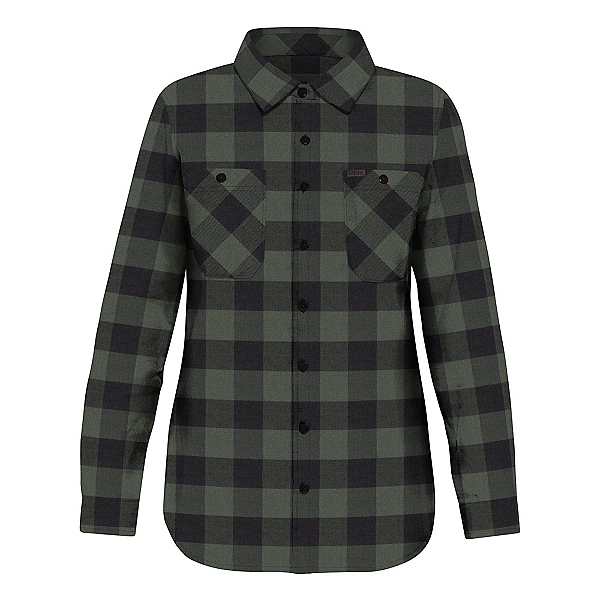 Dakine Canterbury Womens Flannel Shirt, Pine-Black, 600