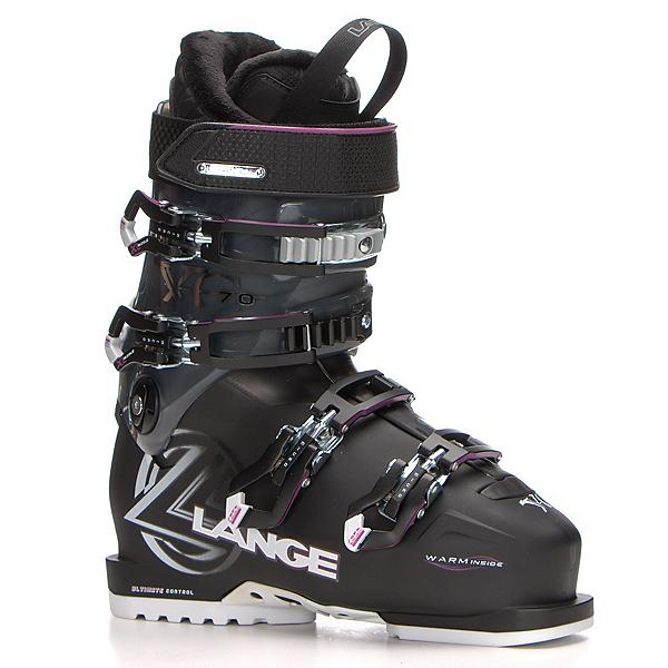 Lange XC 70 W Womens Ski Boots, Black-Magenta, 600