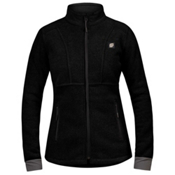 Orage Pursuit Fleece Womens Jacket, Black, medium