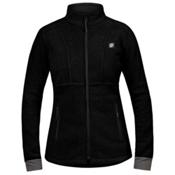 Orage Pursuit Fleece Womens Jacket, Black, medium