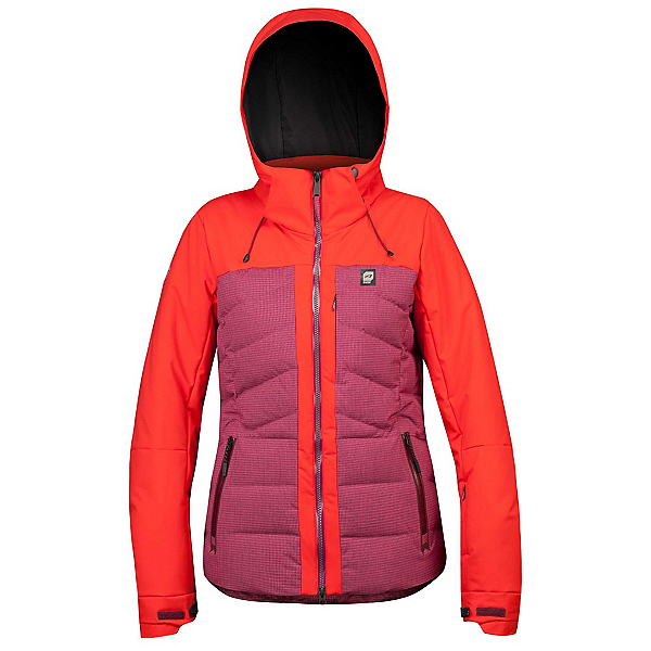 Orage Jasmine Womens Insulated Ski Jacket, Plumrose, 600