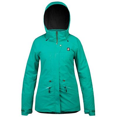 Orage Spansion Womens Insulated Ski Jacket, Dark Jade, viewer
