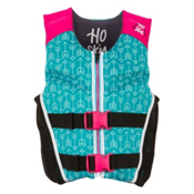 HO Sports Youth Pursuit Neo Girls Junior Life Vest 2017, Teal-Pink-Black, medium