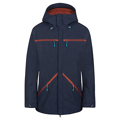 O'Neill Quest Mens Insulated Snowboard Jacket, Ink Blue, viewer