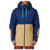 O'Neill David Wise Mens Insulated Snowboard Jacket, Blue Aop, medium