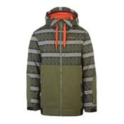 O'Neill David Wise Mens Insulated Snowboard Jacket, Green Aop, medium