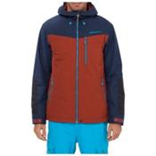 O'Neill Cue Mens Insulated Snowboard Jacket, Burnt Henna-Navy, medium