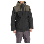 O'Neill Utility Mens Insulated Snowboard Jacket, Black-Grey, medium