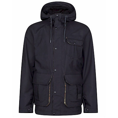 O'Neill Bearded Mens Insulated Snowboard Jacket, Black Out, viewer