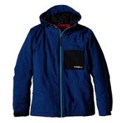 O'Neill Newton Boys Snowboard Jacket, Blue Aop, medium