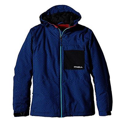 O'Neill Newton Boys Snowboard Jacket, Blue Aop, viewer