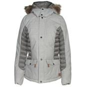 O'Neill Feline Womens Insulated Snowboard Jacket, Silver Melee, medium