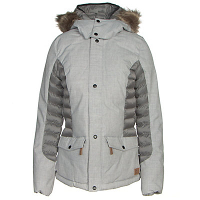 O'Neill Feline Womens Insulated Snowboard Jacket, Silver Melee, viewer