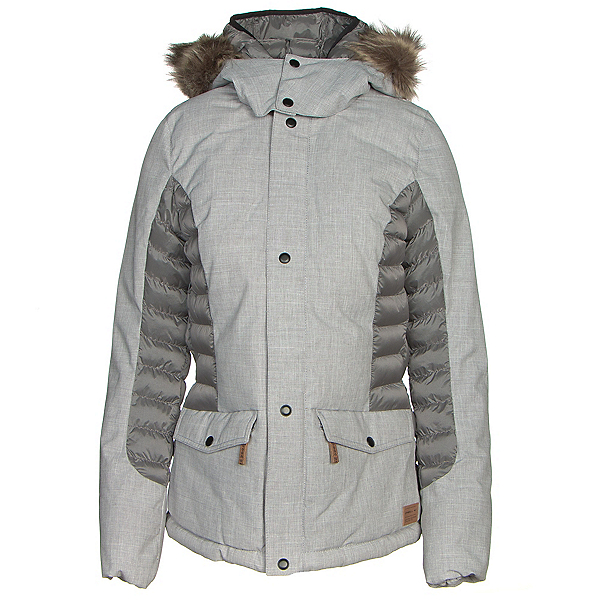 O'Neill Feline Womens Insulated Snowboard Jacket, Silver Melee, 600