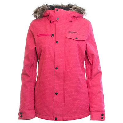 O'Neill Crystaline w/ Faux Fur Womens Insulated Snowboard Jacket, Powder White, viewer