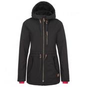 O'Neill Eyeline Womens Insulated Snowboard Jacket, Black Out, medium