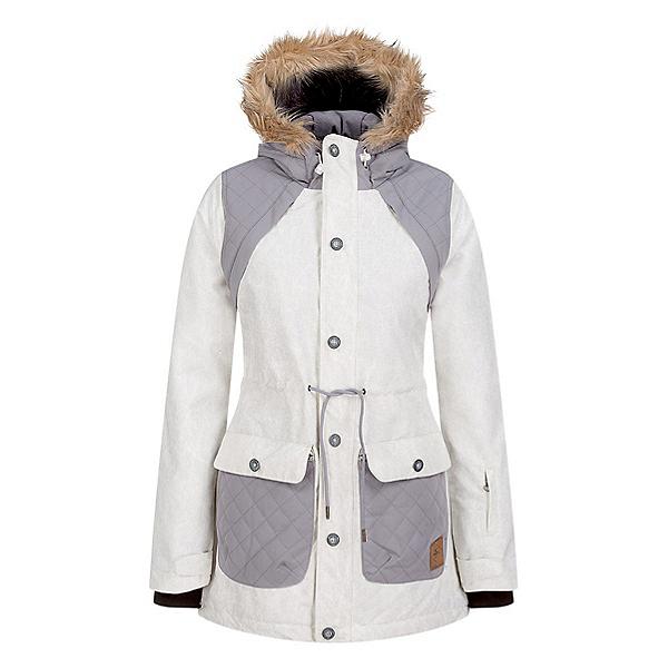 O'Neill Glaze Womens Insulated Snowboard Jacket, Powder White, 600