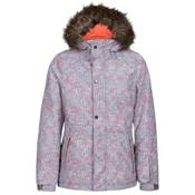 O'Neill Crystal Girls Snowboard Jacket, Grey-White, medium