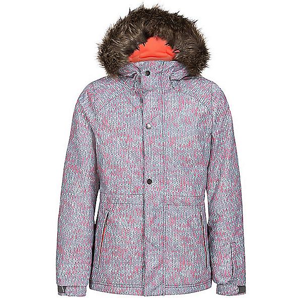 O'Neill Crystal Girls Snowboard Jacket, Grey-White, 600