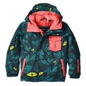O'Neill Prince Toddler Ski Jacket, Green Aop-Blue, medium