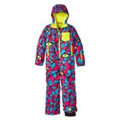 O'Neill Powder Full Toddlers One Piece Ski Suit, Blue Aop-Blue, medium