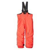 O'Neill Park Bib Toddler Girls Ski Pants, Neon Tangerine, medium