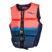 O'Brien Flex V-Back Neoprene Womens Life Vest 2017, Coral, medium