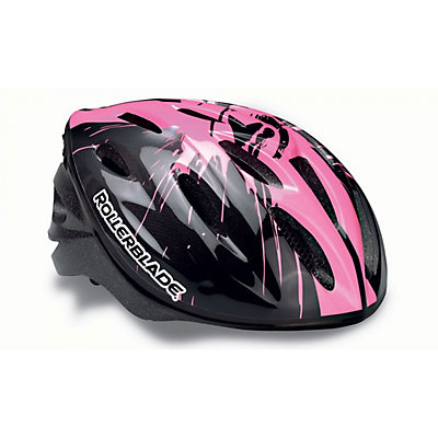 Rollerblade Workout Girls Kids Fitness Helmet 2017, Black-Pink, viewer