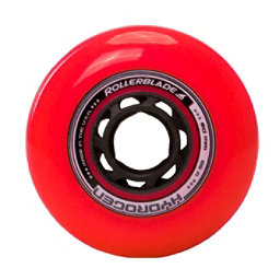 Rollerblade Hydrogen Urban 80mm 85A Inline Skate Wheels - 8 Pack 2017, Red, 256
