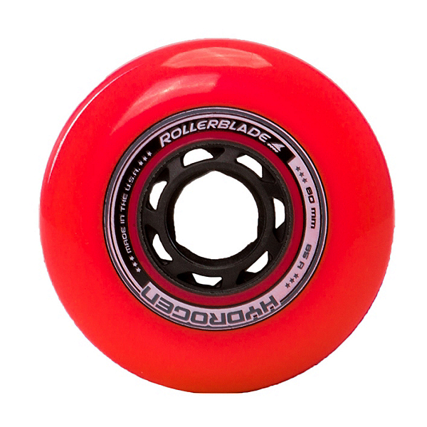 Rollerblade Hydrogen Urban 80mm 85A Inline Skate Wheels - 8 Pack 2017, Red, 600