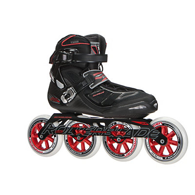 Rollerblade Tempest 110 C Inline Skates 2017, Black-Red, viewer