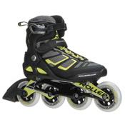 Rollerblade Macroblade 90 ALU Inline Skates 2017, Black-Lime, medium
