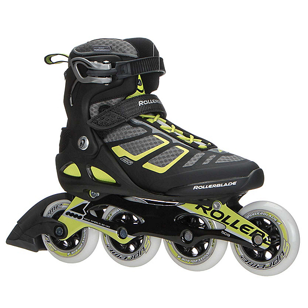 Rollerblade Macroblade 90 ALU Inline Skates 2017, Black-Lime, 600