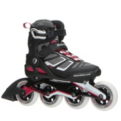 Rollerblade Macroblade 90 ALU Womens Inline Skates 2017, Black-Cherry, medium