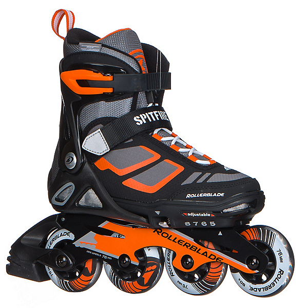 Rollerblade Spitfire LX ALU Adjustable Kids Inline Skates 2017, Black-Orange, 600
