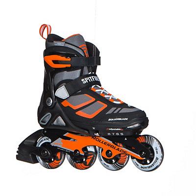 Rollerblade Spitfire LX ALU Adjustable Kids Inline Skates 2017, Black-Orange, viewer