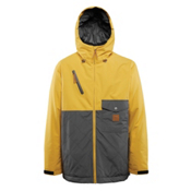 ThirtyTwo Holcomb Mens Insulated Snowboard Jacket, Yellow, medium