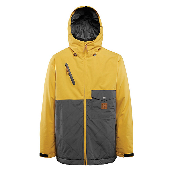 ThirtyTwo Holcomb Mens Insulated Snowboard Jacket, Yellow, 600