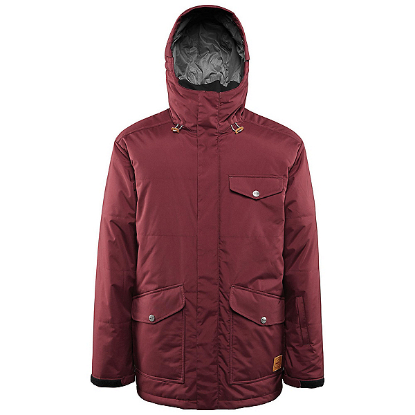 ThirtyTwo Mirada Mens Insulated Snowboard Jacket, Burgundy, 600
