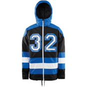 ThirtyTwo Batch Mens Shell Snowboard Jacket, Enamel Blue, medium