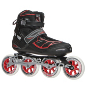 Rollerblade Tempest 100 C Inline Skates 2017, Black-Red, medium