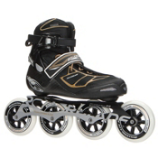 Rollerblade Tempest 100 C Womens Inline Skates 2017, Black-Gold, medium