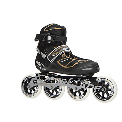 Rollerblade Tempest 100 C Womens Inline Skates 2017, Black-Gold, viewer