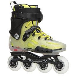 Rollerblade Twister X Urban Inline Skates 2017, Translucent-Fluorescent Yellow, 256